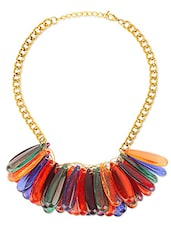 Multicolor Long Bead Embellished Necklace - By