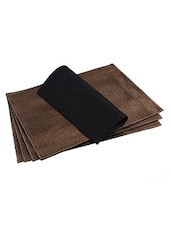 The Decor Mart - Faux Leather - Rust Placemats - Pack Of 2 - By