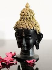 Gold Polyresin Buddha Head Statue - ECraftIndia