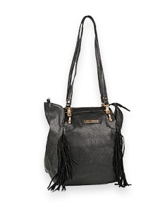 Black Fringe Lady Bag - Lino Perros