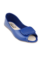 blue faux leather ballerina -  online shopping for ballerina