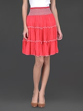Coral Flared Skirt Cum Tube Top - Klick2Style