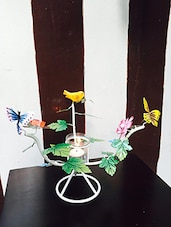 White Bird And Butterfly Stand Candle Holder - By