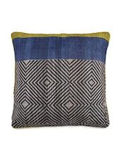 Multicolored Silk Printed Cushion Cover - By