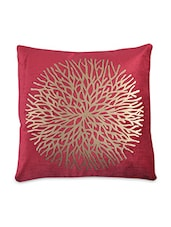 Red Velvet Printed Cushion Cover - By