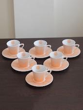Orange Bone China Orange Cup Saucer Set - By