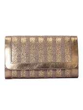 gold suede clutch -  online shopping for clutches