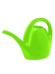 Neon green plastic watering can