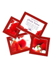 Red Plastic Photo Frame With 4 Slots - Innova