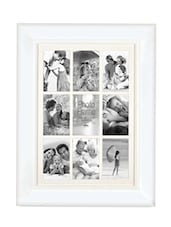 White Plastic Photo Frame With 9 Slots - Innova By HC