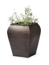 Solid Iron Frustum Shape Planter - Magnolia Kreations