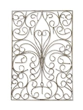 Beige Iron And Brass Wall D��cor - By