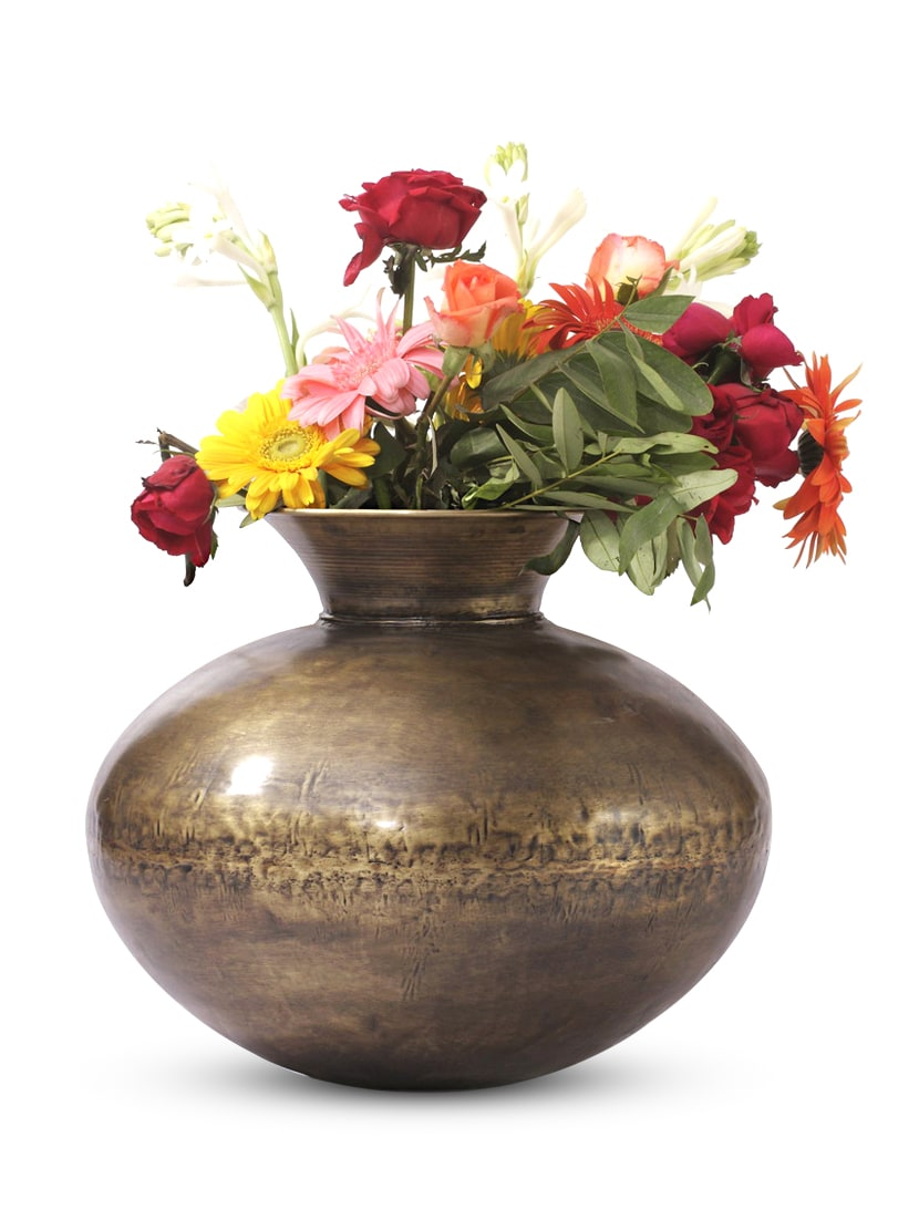 Gold Iron And  Brass Planter - Papallona Designs - 1172576