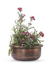 Brown Iron And  Copper Planter - Papallona Designs - 1172606