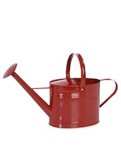 Red Metal Watering Can - By