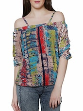multi colored printed top -  online shopping for Tops