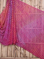 Pink Lehariya Pure Silk Patola Saree - Maandna