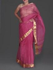 Pink Bandhej Printed Cotton Kota Saree - Maandna