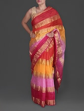 Multicolored Poly Silk Kota Saree - Maandna