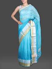 Blue Shaded Pure Silk Kota Saree - Maandna