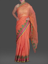 Coral Jacquard  Poly Cotton Kota Saree - Maandna