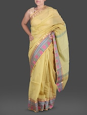Pastel Green Jacquard  Poly Cotton Kota Saree - Maandna