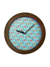 Multicolour Wooden Wall Clock - DESIGN GUNS