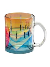 Multicolour Glass Taj Mahal Glass Mug - DESIGN GUNS