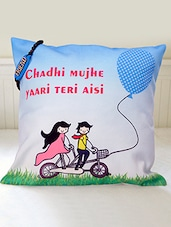 """"""" Chadhi ���. Aisi """" Printed Friendship Day Cushion With Friendship Band Combo - Amigos By Thinking Of You"""