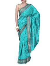 Blue Art Silk Saree Brocade Saree - By