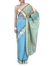 Blue Art Silk Saree - By