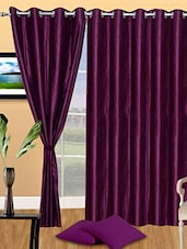 Set Of 3 Solid Polyester Door Curtain - By