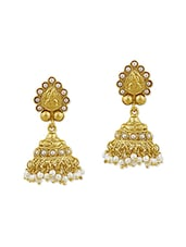 Gold Plated Drop Earring - By