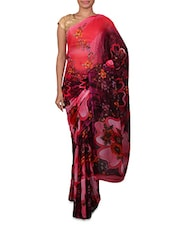 Multicolour Printed Georgette Saree - By