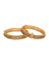 Stone Embellished Bangles - By