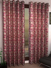 Set Of 2 Multi Colored Polyester Curtains - By