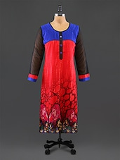 Red Printed Georgette Kurta - By