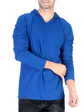 dark blue solid cotton t-shirt -  online shopping for T-Shirts