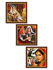 Rajasthani Art Paintings - Set Of 3 - By