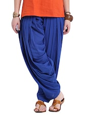 blue cotton patiyala salwars -  online shopping for Salwars