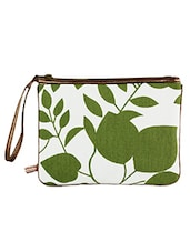 Leaves Printed Travel Pouch - The Kala Shop