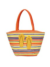 Multicolour Chapal Printed Jute Tote Bag - By