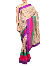 Multicolour Printed Chiffon Saree - By