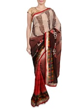 Multicolour Embroidered Georgette Saree - By