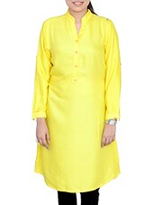 Yellow Rayon Long Kurta - By