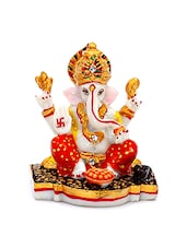 Multicolored Resin Hand Painted Lord Ganesh Figurine - By