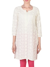 Solid Color Round Neck Long Kurta - Morpunc