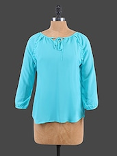 Solid Color Long Sleeve Top - Sepia