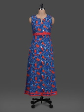 Printed Sleeveless Funnel Neck Maxi Dress - LOFF
