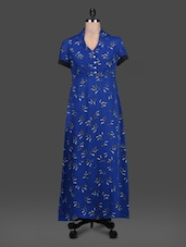 Butterfly Pattern Print Short Sleeve Maxi Dress - LOFF